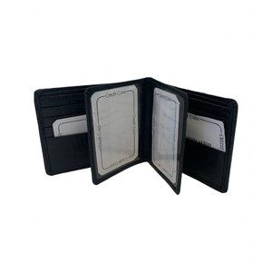 Men's Wallet with removable Flap Id Card Holder